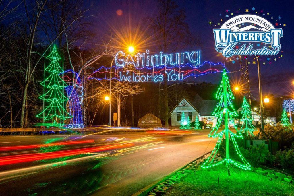 Gatlinburg lights during winterfest