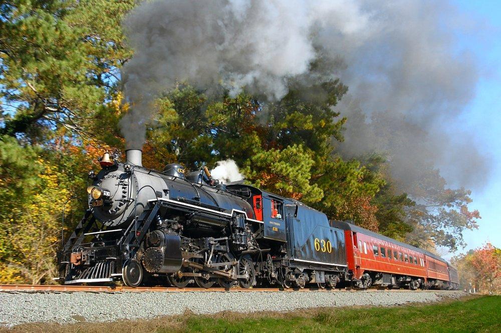 rail road engine on the tracks