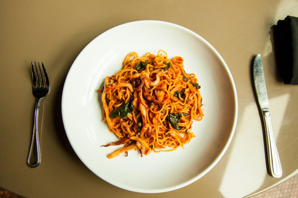 plate of spaghetti by Alleia