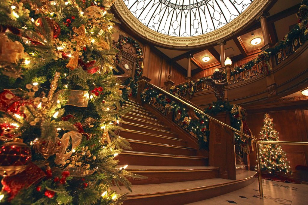 Titanic Museum decorate for Christmas in the Smoky Mountains