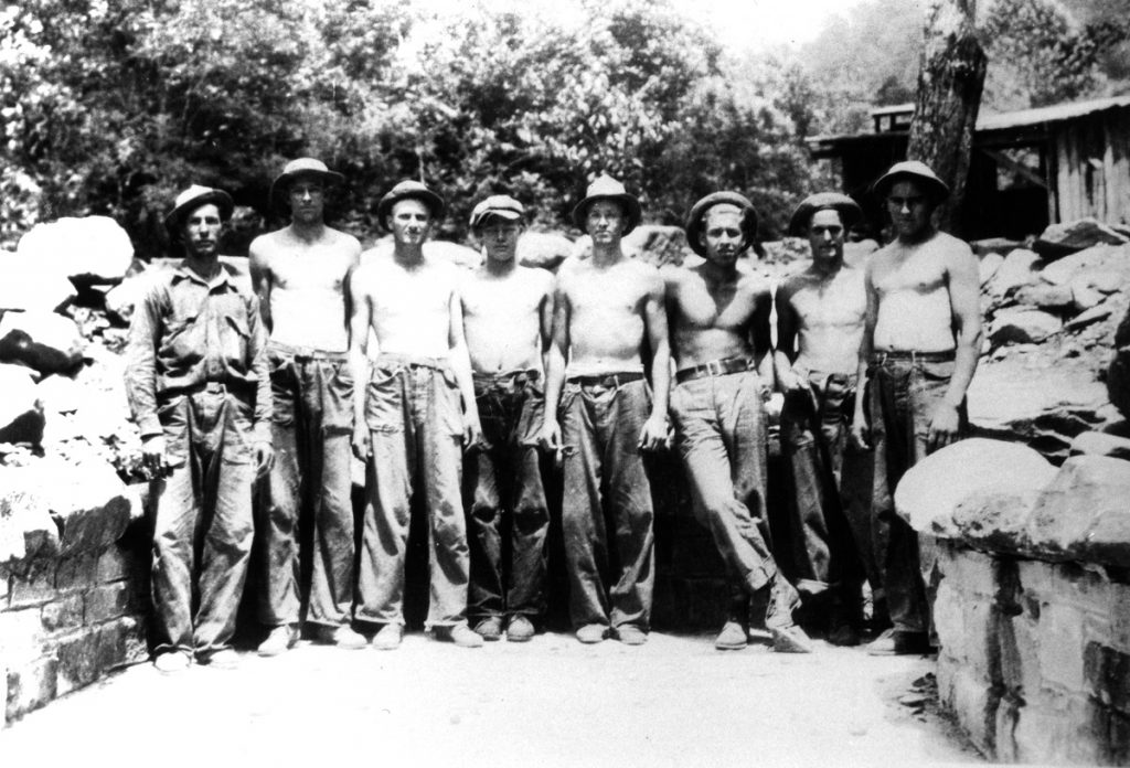 Photo of the Civilian conservation corps in the Great Smoky Mountains National Park history