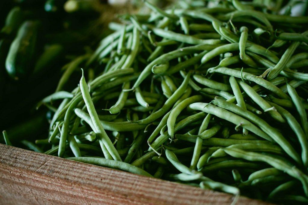 green beans, farmers market
