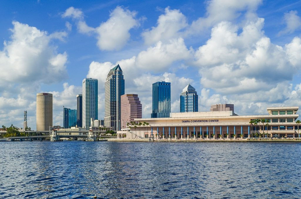 dog friendly cities, tampa sky line