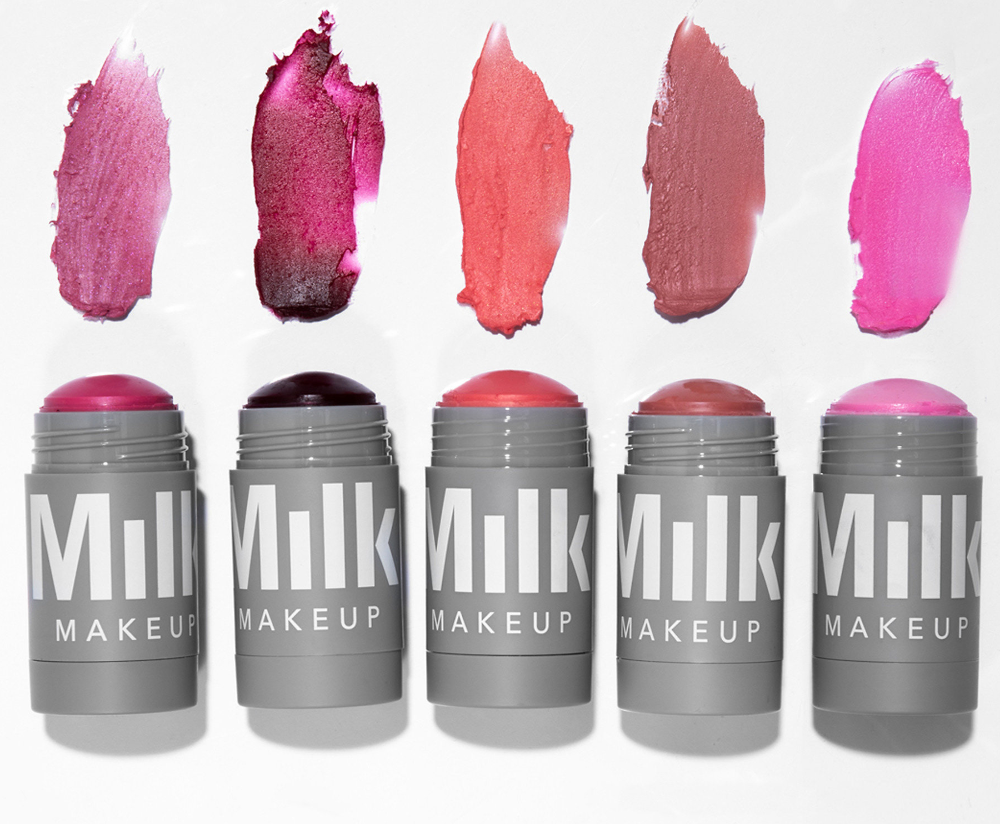 MILK MAKEUP Lip + Cheek sticks with swatches