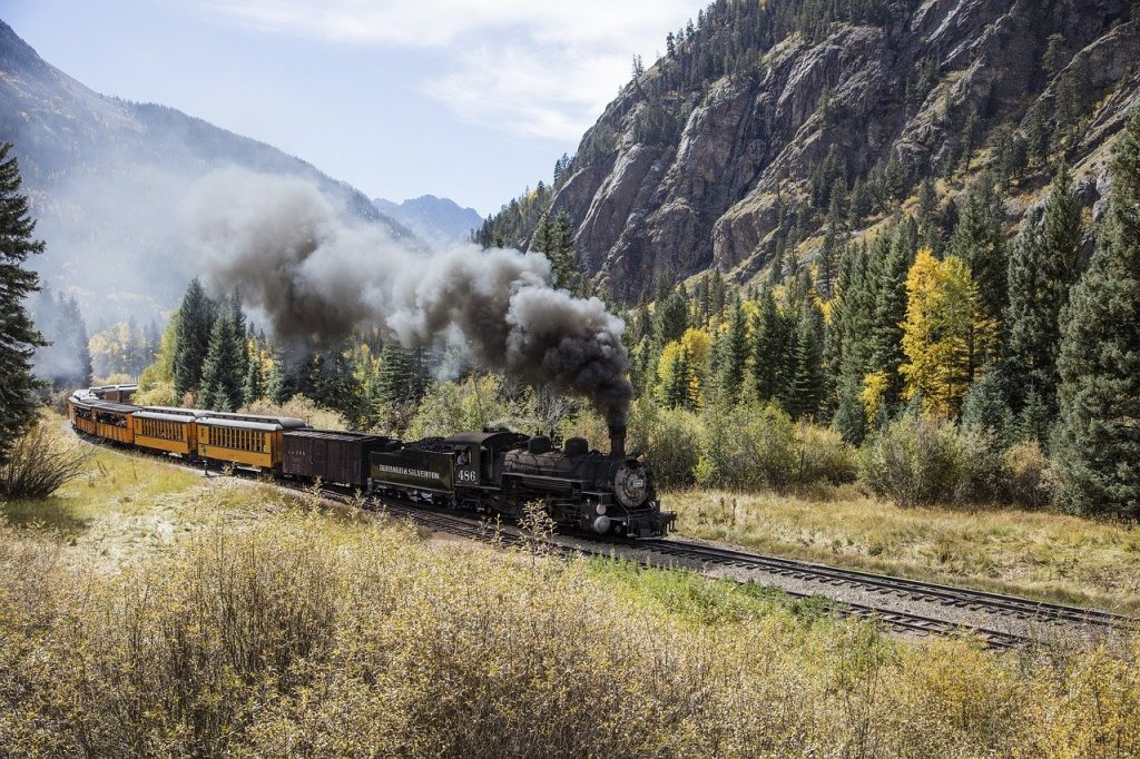 Durango & Silverton Narrow Gauge Railroad in Durango Colorado