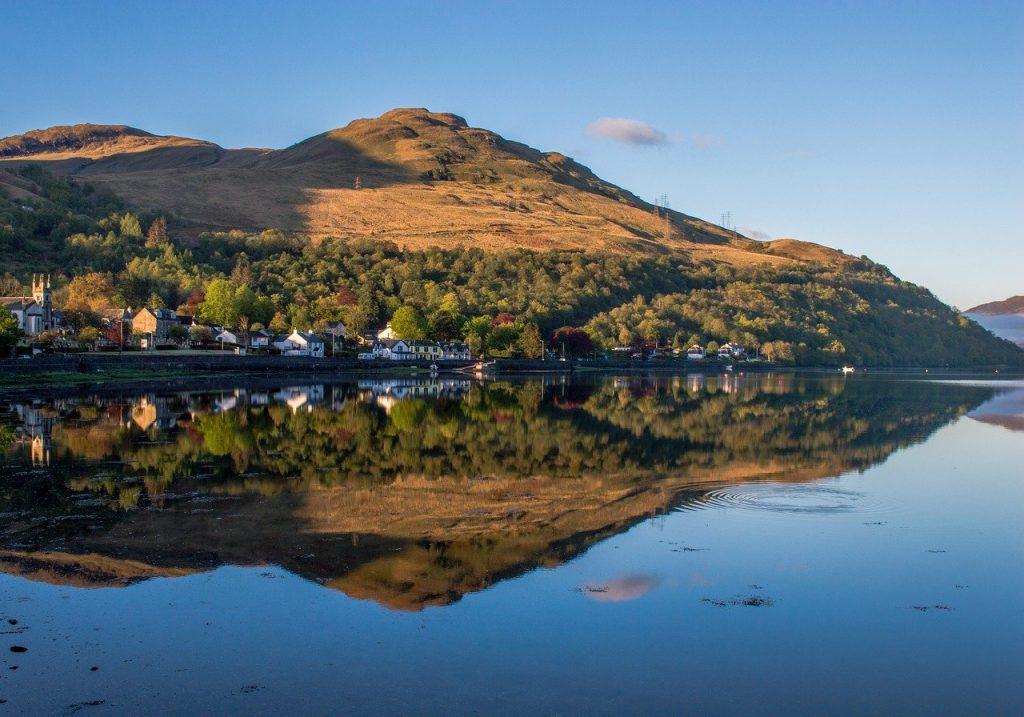 West Highlands in scotland view of Loch lomond