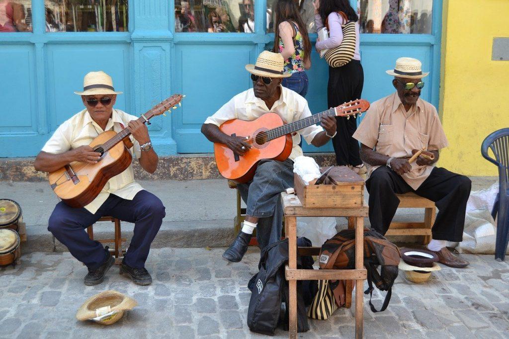 street musicians in Havana Cuba