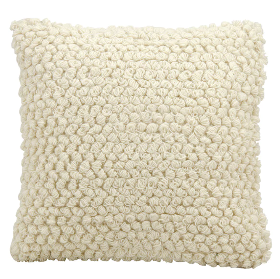 The Curated Nomad Cantera Loops Ivory Throw Pillow