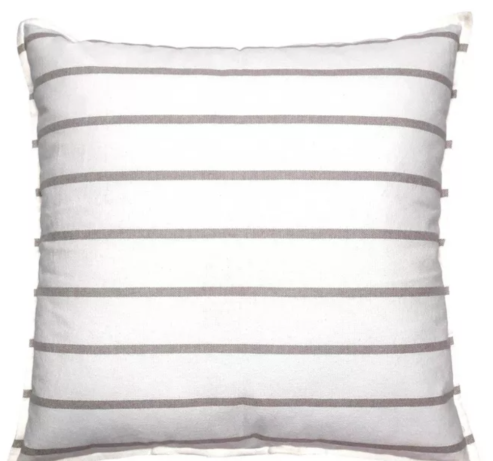 Woven Striped Oversized Square Pillow