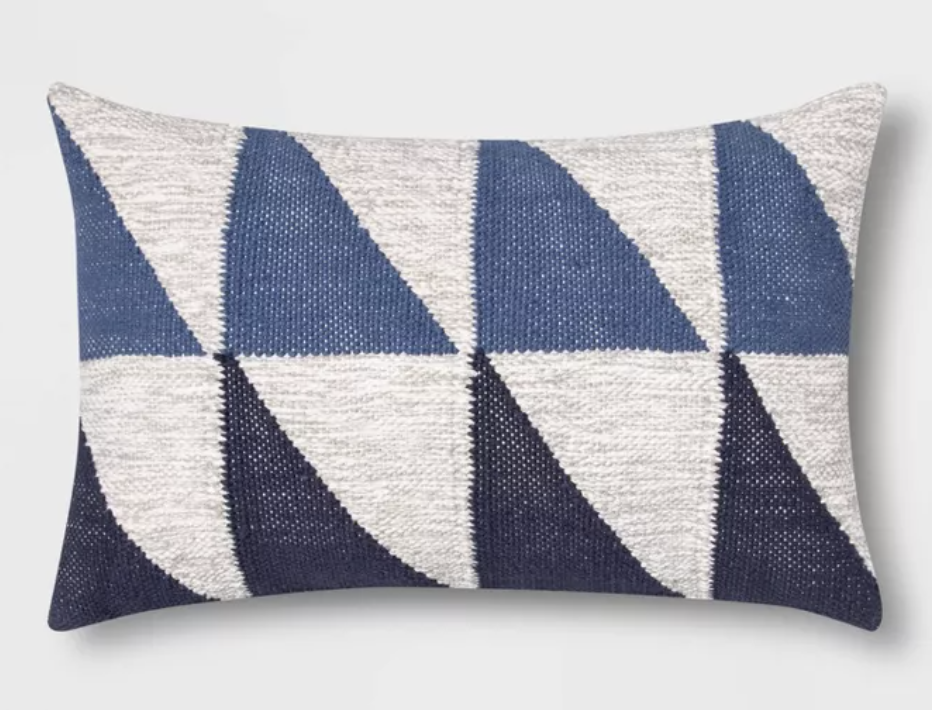 Color Blocked Geometric Lumbar Pillow from Target