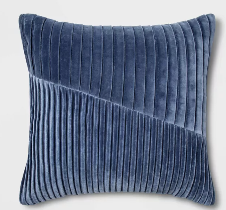 Square Pleated Velvet throw pillow