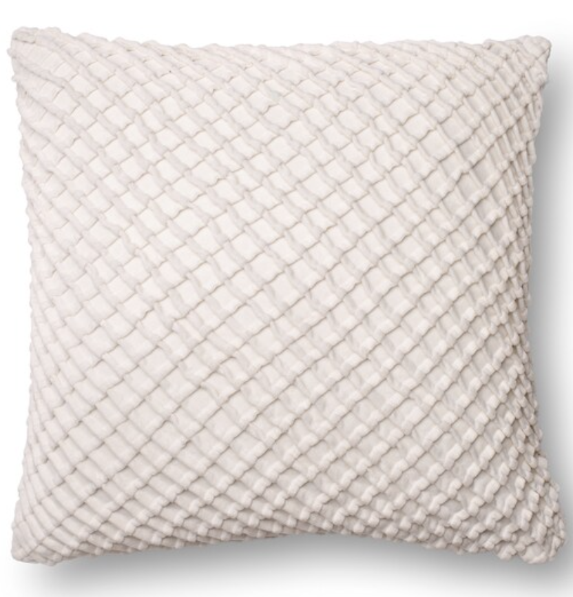 Solid Sown Ribbon Texture 22-inch Throw Pillow