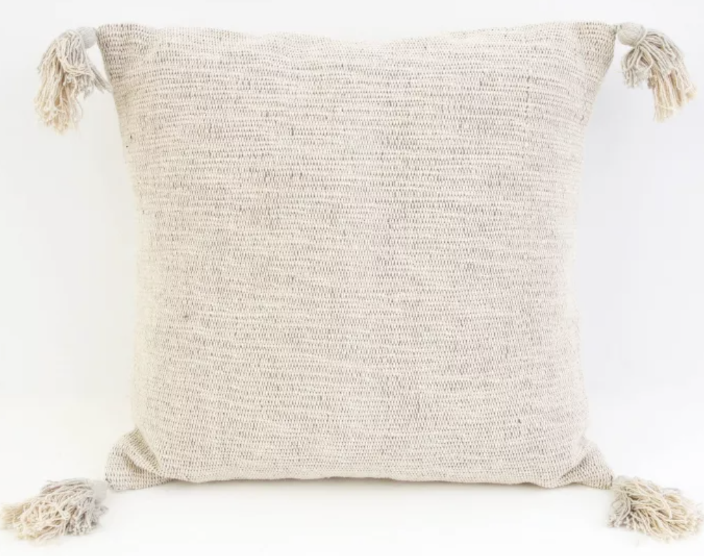 Two Tone Tassel Pillow